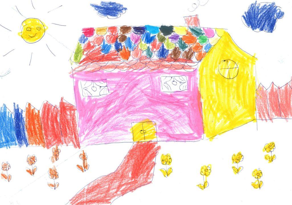 Haus gezeichnet von Asylsuchenden